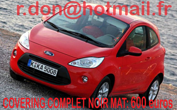 covering ford ka ford ka noir mat. Black Bedroom Furniture Sets. Home Design Ideas