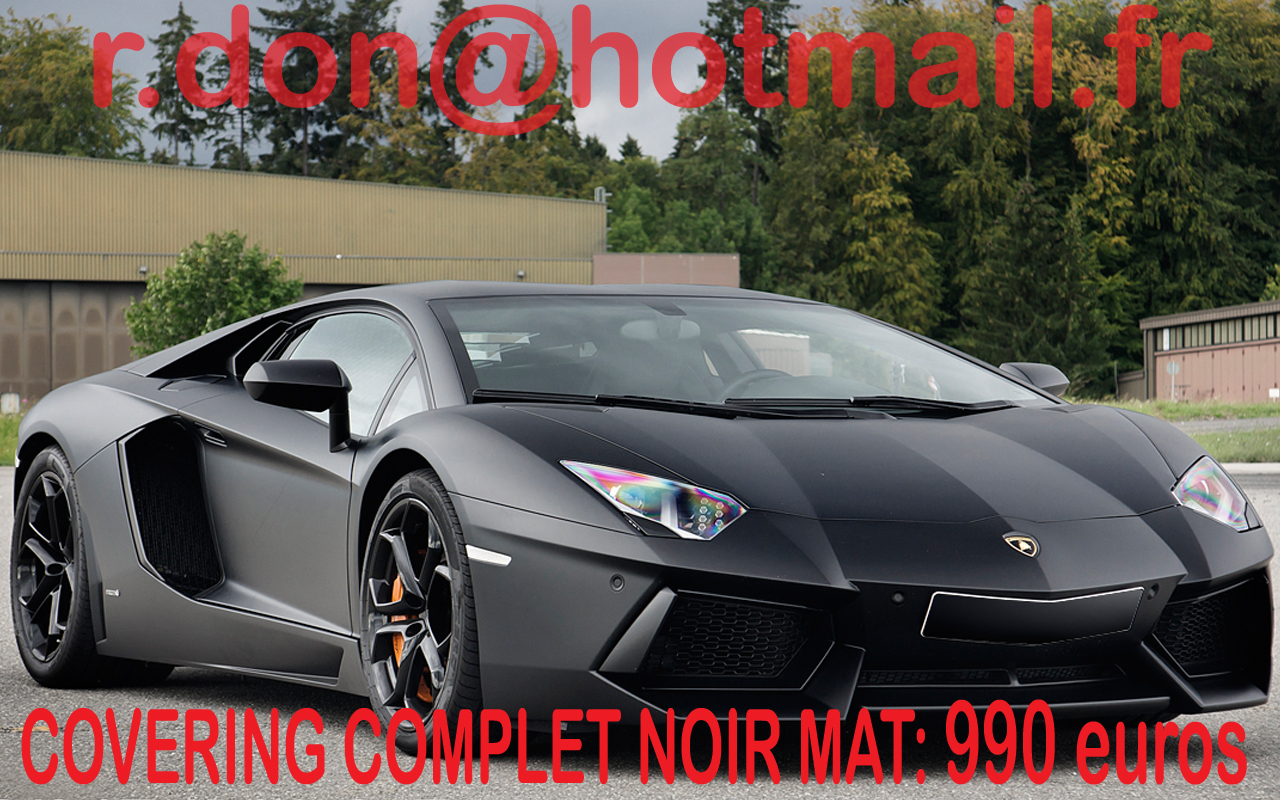 covering lamborghini aventador aventador noir mat. Black Bedroom Furniture Sets. Home Design Ideas